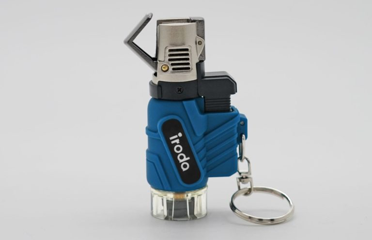 AT-2057 Micro butane jet lighter perfect for outdoors and adventures from Pro-Iroda with keychain