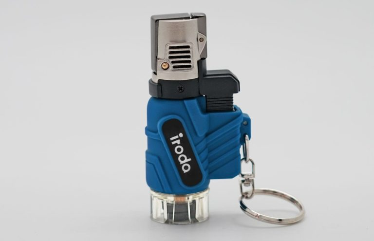 AT-2057 Micro butane jet lighter perfect for outdoors and adventures from Pro-Iroda in safety lock mode