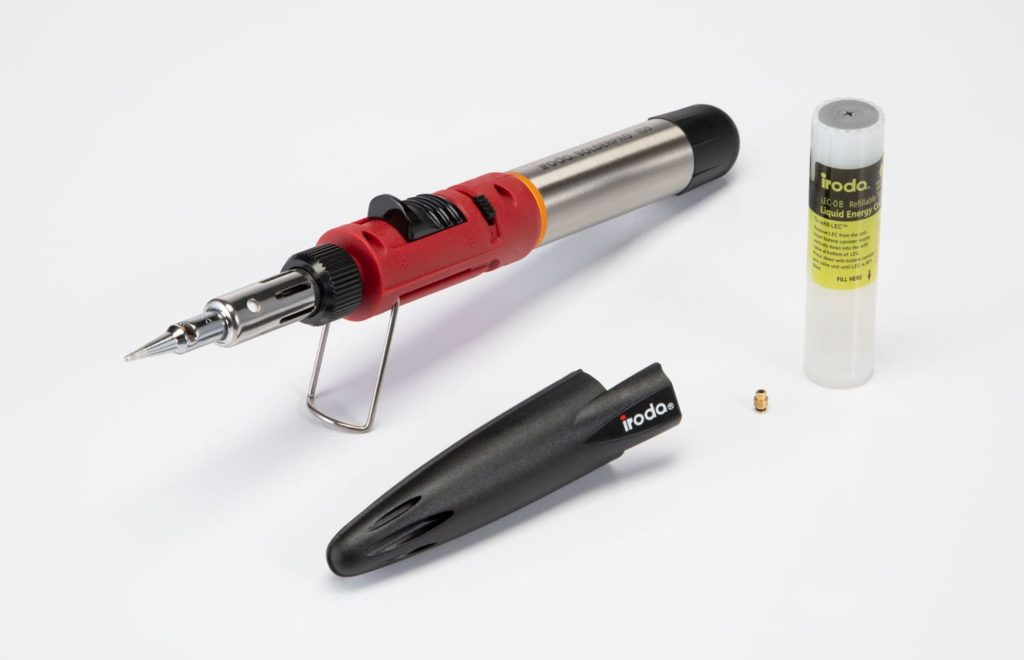 SOLDERPRO 50 Professional Butane Soldering Iron with a Protective Cap and a LEC ( Liquid Energy Cell) from Pro-Iroda