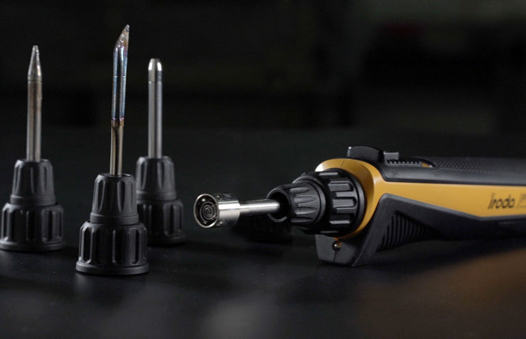 PRO-25L Cordless USB Rechargeable Soldering Iron with 4 high quality interchangeable tips from Pro-Iroda