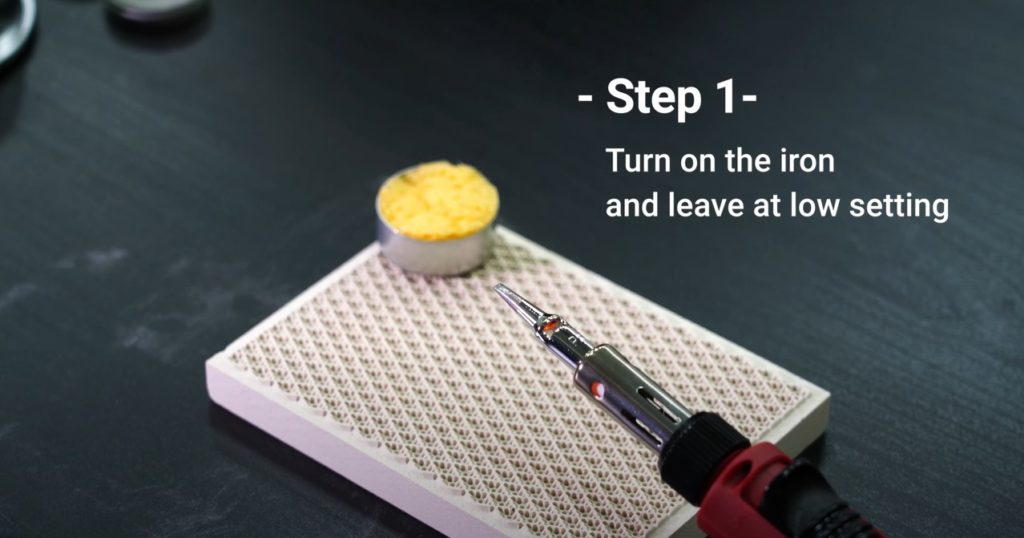 Step 1 on how to Clean & Maintain Your Soldering Iron Tip