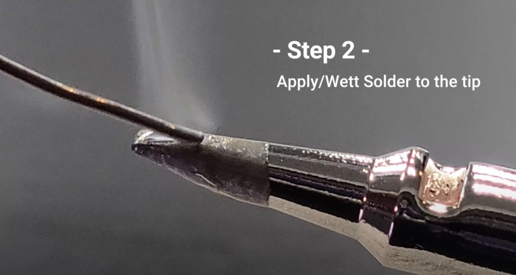 Step 2 on how to Clean & Maintain Your Soldering Iron Tip