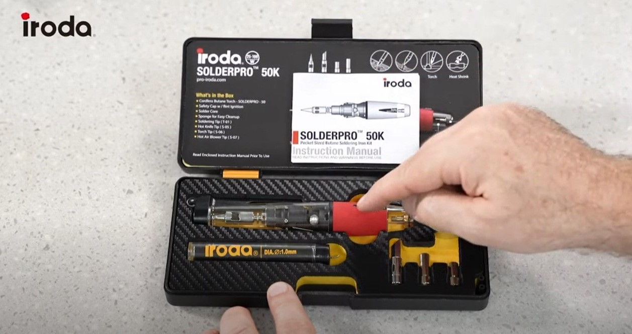 Discover the SOLDERPRO 50K Pocket size Professional Butane Soldering Iron Kit