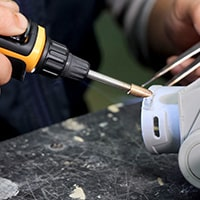 Using Pro-Iroda's PRO-25LP USB Rechargeable Plastic Welding Iron to do Plastic Welding
