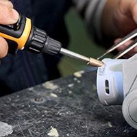 Using Pro-Iroda's PRO-25LP USB Rechargeable Plastic Welding Iron to do Plastic Welding